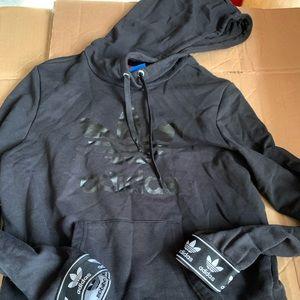 Adidas logo taped hoodie